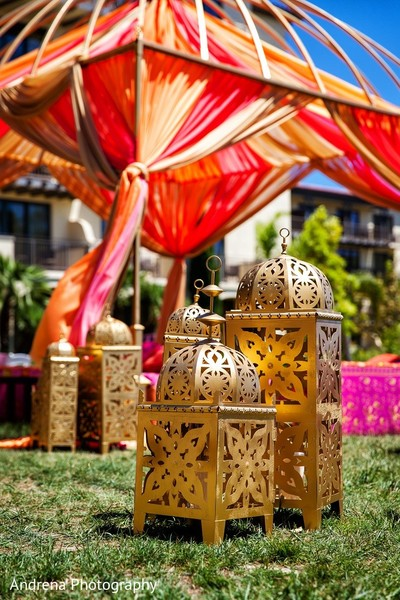 Indian Wedding Decor in Rancho Palos Verdes Indian Fusion Wedding by Andrena Photography