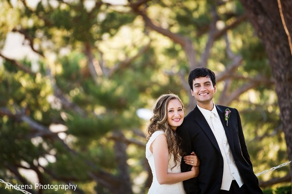 Wedding Portrait in Rancho Palos Verdes Indian Fusion Wedding by Andrena Photography