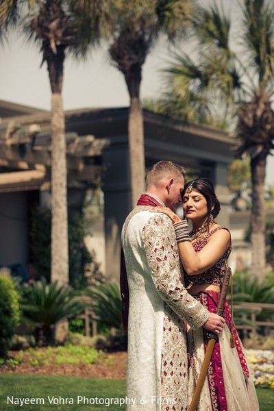 First Look in Amelia Island, FL Indian Fusion Destination Wedding by Nayeem Vohra Photography & Films