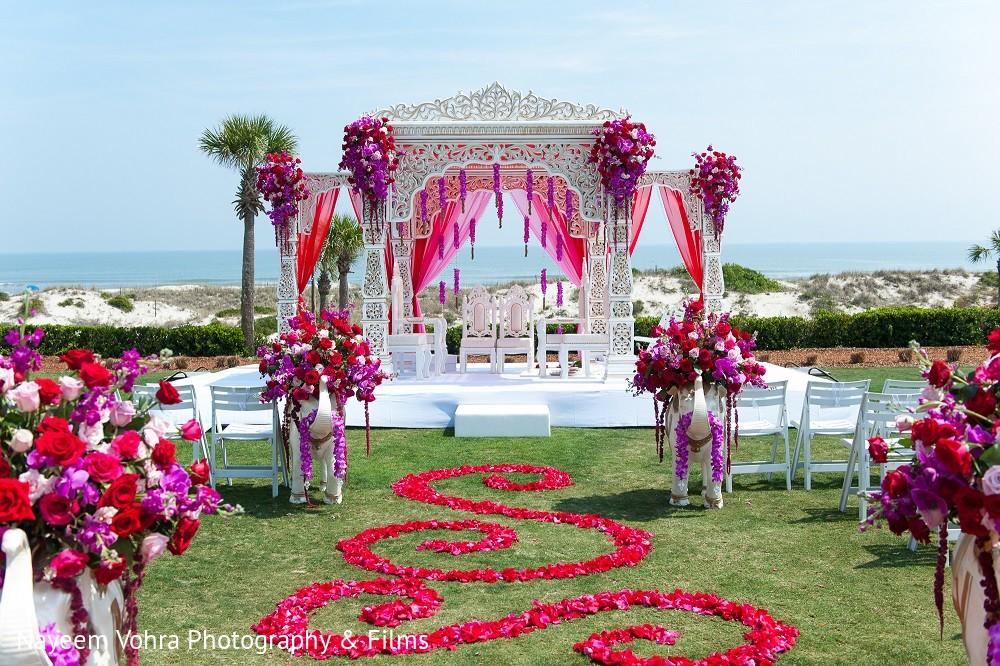 Ceremony Decor In Amelia Island, FL Indian Fusion