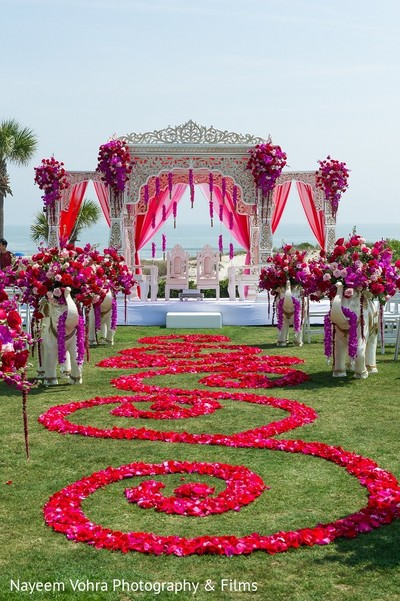 Ceremony Decor in Amelia Island, FL Indian Fusion Destination Wedding by Nayeem Vohra Photography & Films