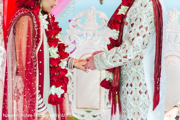 Ceremony in Amelia Island, FL Indian Fusion Destination Wedding by Nayeem Vohra Photography & Films