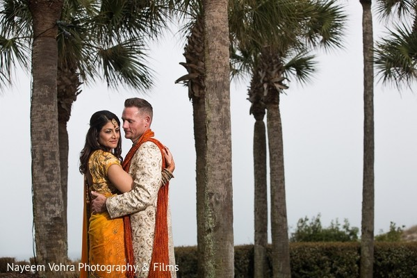 Pre-Wedding Portrait in Amelia Island, FL Indian Fusion Destination Wedding by Nayeem Vohra Photography & Films