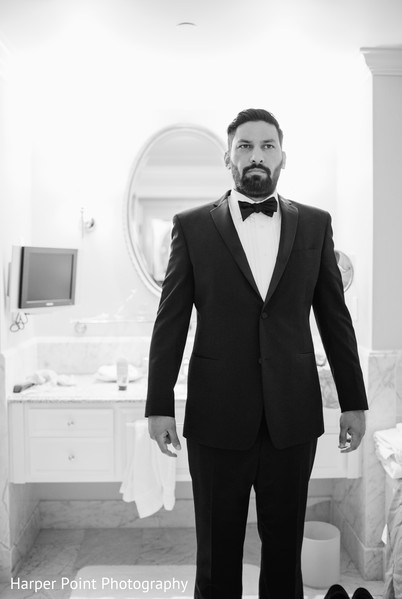 Groom Getting Ready in Westlake Village, CA Fusion Wedding by Harper Point Photography