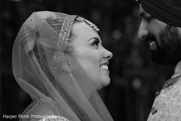 First Look Portraits in Westlake Village, CA Fusion Wedding by Harper Point Photography