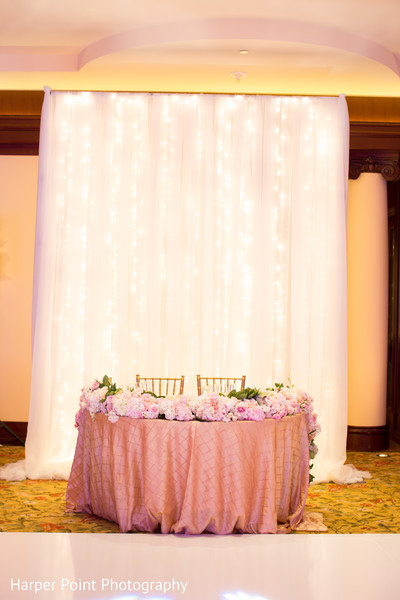 Sweetheart Table in Westlake Village, CA Fusion Wedding by Harper Point Photography