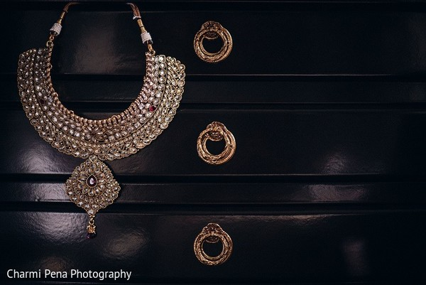 Bridal Jewelry in New York, NY Indian Wedding by Charmi Pena Photography