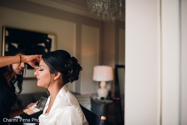 Getting Ready in New York, NY Indian Wedding by Charmi Pena Photography