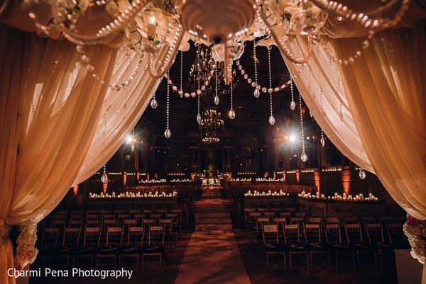 Ceremony Decor in New York, NY Indian Wedding by Charmi Pena Photography