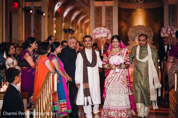 Ceremony in New York, NY Indian Wedding by Charmi Pena Photography