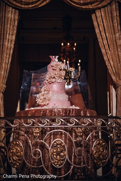 Wedding Cake in New York, NY Indian Wedding by Charmi Pena Photography