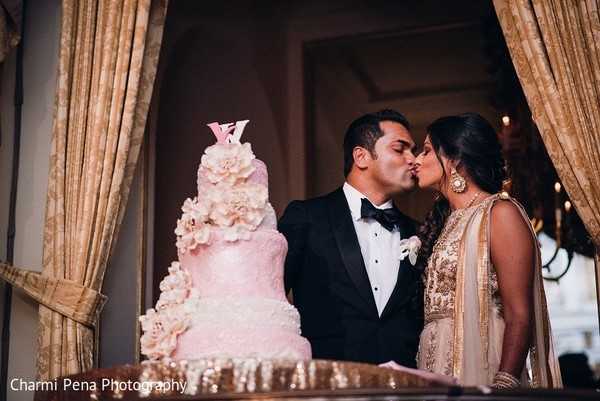 Reception in New York, NY Indian Wedding by Charmi Pena Photography