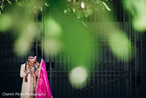 First Look in New York, NY Indian Wedding by Charmi Pena Photography
