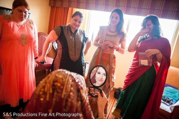Bride Getting Ready in Norman, Oklahoma Fusion Wedding by S&S Productions Fine Art Photography