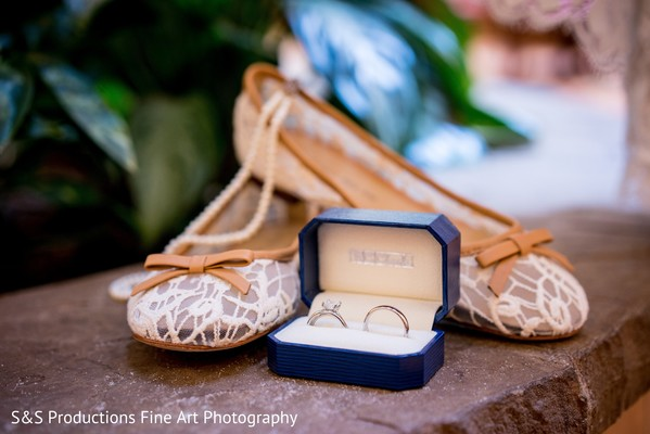 Bridal Shoes in Norman, Oklahoma Fusion Wedding by S&S Productions Fine Art Photography