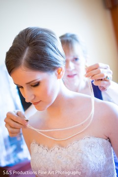 Bride Getting Ready for the Reception