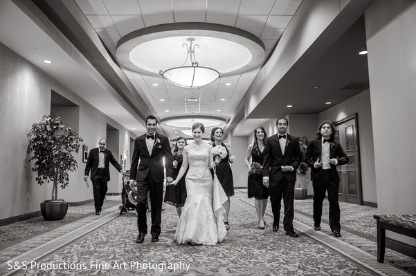 Bridal Party Portraits in Norman, Oklahoma Fusion Wedding by S&S Productions Fine Art Photography