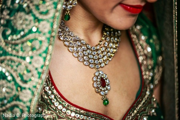 Bridal Jewelry in Sonoma, CA Indian Wedding by Nadia D. Photography