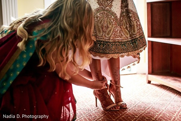 Getting Ready in Sonoma, CA Indian Wedding by Nadia D. Photography