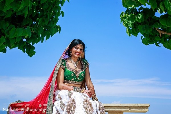 Bridal Portrait in Sonoma, CA Indian Wedding by Nadia D. Photography
