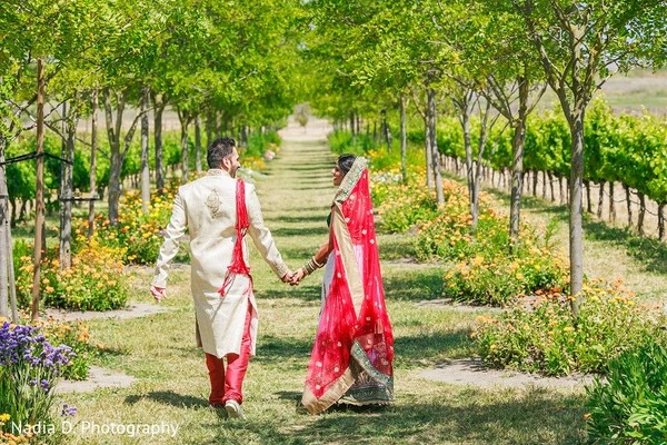 First Look in Sonoma, CA Indian Wedding by Nadia D. Photography