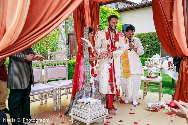 Ceremony in Sonoma, CA Indian Wedding by Nadia D. Photography