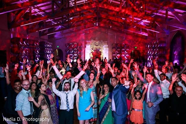 Reception in Sonoma, CA Indian Wedding by Nadia D. Photography