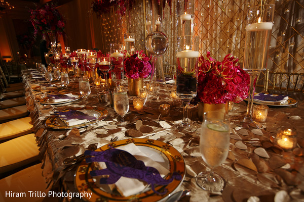 Reception Decor in Dallas, TX South Indian Fusion Wedding by Hiram Trillo Art Photography