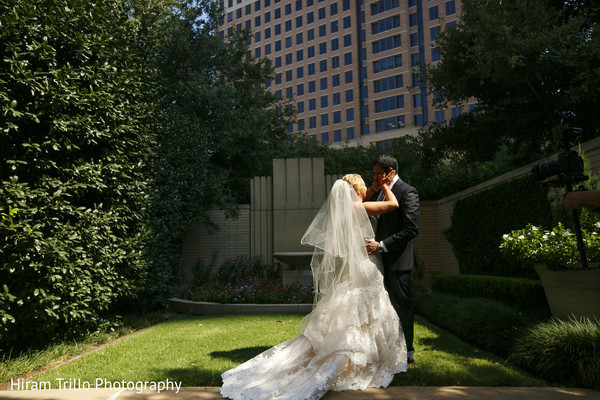 First Look in Dallas, TX South Indian Fusion Wedding by Hiram Trillo Art Photography