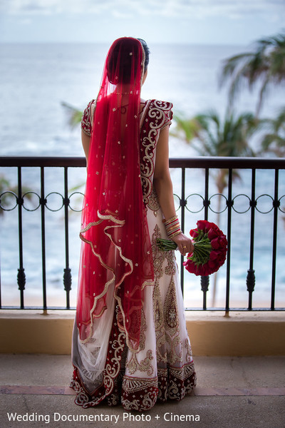 Bridal Portrait in Los Cabos, Mexico Indian Destination Wedding by Wedding Documentary Photo + Cinema