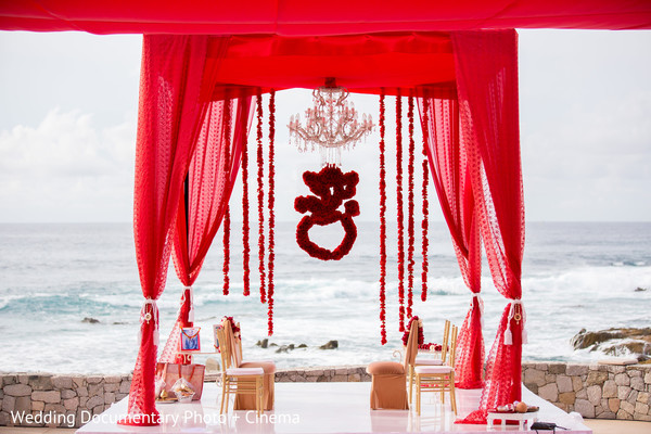 Mandap in Los Cabos, Mexico Indian Destination Wedding by Wedding Documentary Photo + Cinema