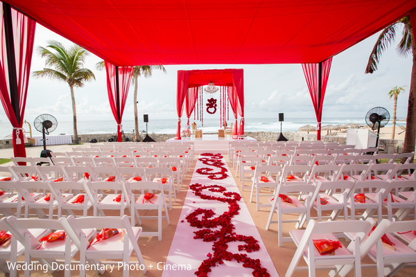 Ceremony Decor in Los Cabos, Mexico Indian Destination Wedding by Wedding Documentary Photo + Cinema