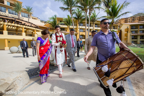 Ceremony in Los Cabos, Mexico Indian Destination Wedding by Wedding Documentary Photo + Cinema