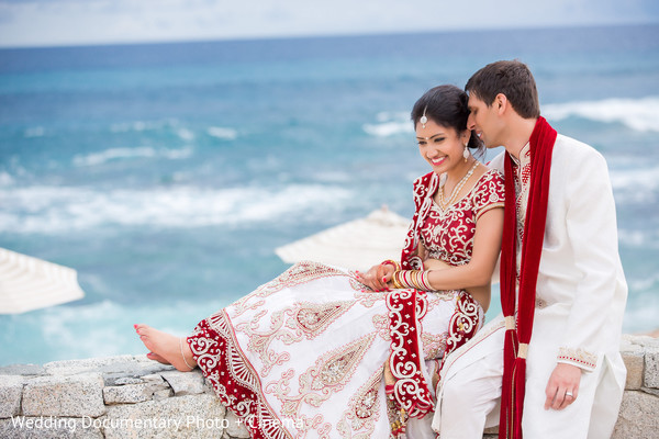 Wedding Portrait in Los Cabos, Mexico Indian Destination Wedding by Wedding Documentary Photo + Cinema