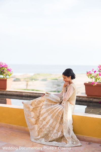 Reception Portrait in Los Cabos, Mexico Indian Destination Wedding by Wedding Documentary Photo + Cinema