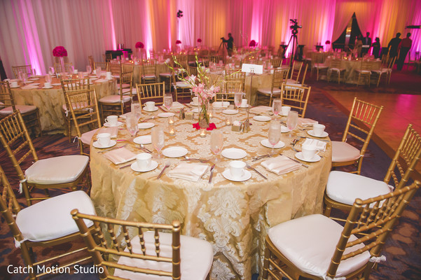 Reception Decor in Annapolis, MD Sikh Wedding by Catch Motion Studio