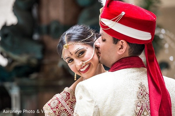 First Look in Newport Beach, CA Indian Wedding by Aaroneye Photo & Video