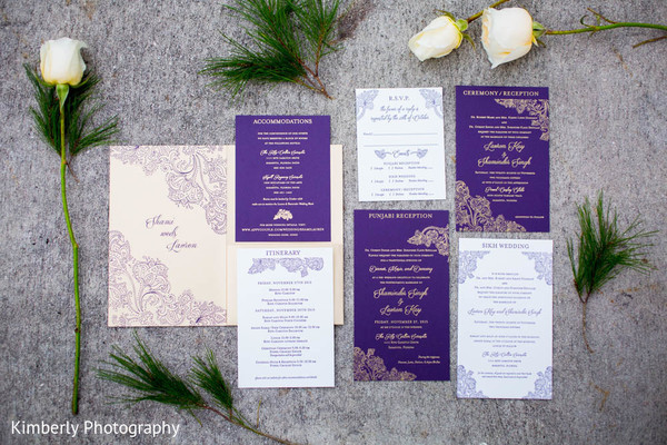 Stationery in Sarasota, FL Indian Fusion Wedding by Kimberly Photography