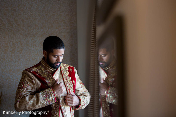Groom Getting Ready in Sarasota, FL Indian Fusion Wedding by Kimberly Photography