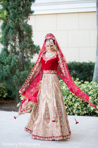 Bridal Fashion in Sarasota, FL Indian Fusion Wedding by Kimberly Photography