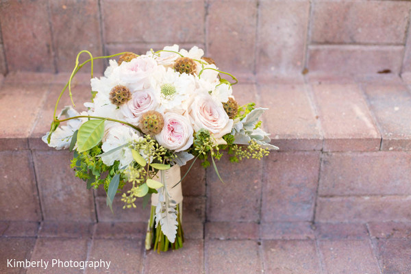 Bridal Bouquet in Sarasota, FL Indian Fusion Wedding by Kimberly Photography