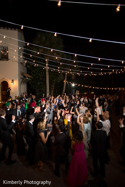Reception in Sarasota, FL Indian Fusion Wedding by Kimberly Photography