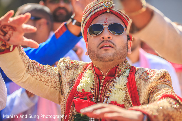 Baraat in New Brunswick, NJ Indian Wedding by Manish and Sung Photography