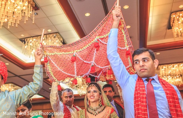 Ceremony in New Brunswick, NJ Indian Wedding by Manish and Sung Photography