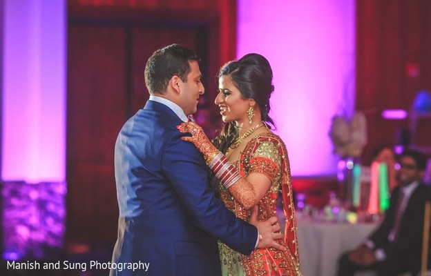Reception in New Brunswick, NJ Indian Wedding by Manish and Sung Photography