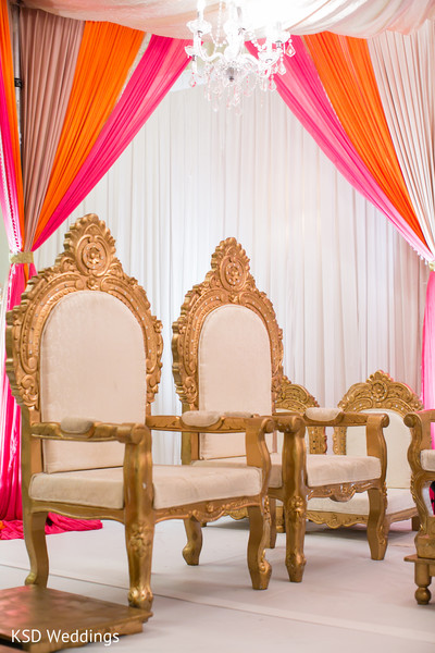 Ceremony Decor in Woodcliff Lake, NJ Indian Wedding by KSD Weddings