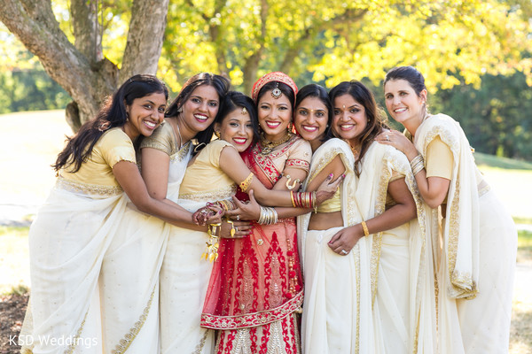 Bridal Party Portraits in Woodcliff Lake, NJ Indian Wedding by KSD Weddings