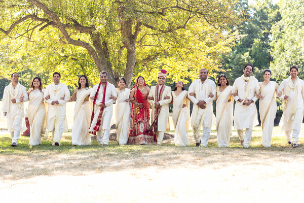 Wedding Party Portraits in Woodcliff Lake, NJ Indian Wedding by KSD Weddings