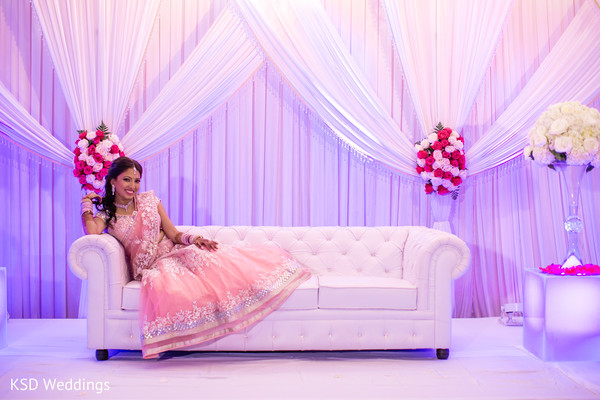 Bridal Reception Portraits in Woodcliff Lake, NJ Indian Wedding by KSD Weddings