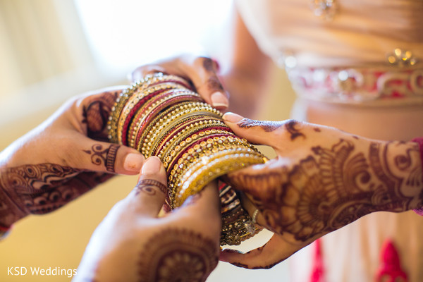 Bridal Churi in Woodcliff Lake, NJ Indian Wedding by KSD Weddings